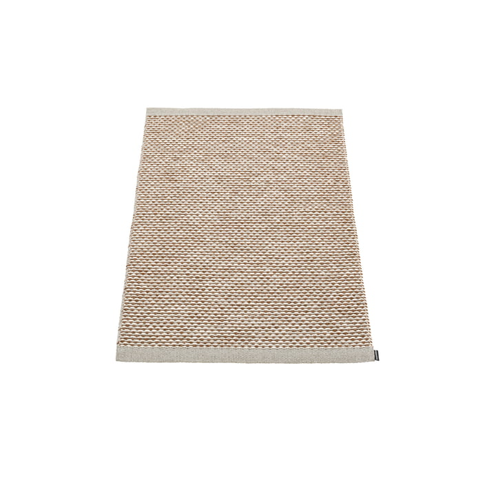 Effi carpet 60 x 85 cm from Pappelina in warm grey / brown / vanilla