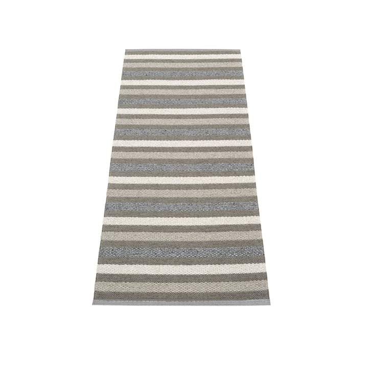 Grace carpet 70 x 140 cm from Pappelina in charcoal