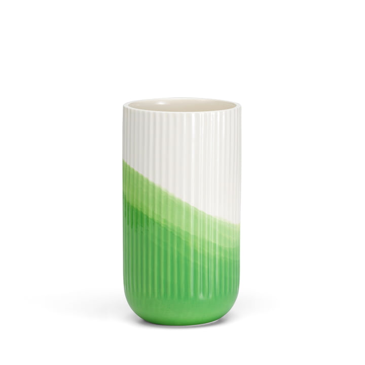 Vitra - Herringbone Vase ribbed H 24,5 cm, green