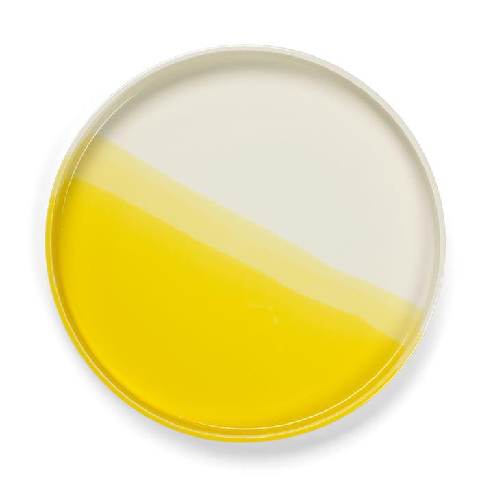 Herringbone Tray Ø 35,5 cm from Vitra in yellow