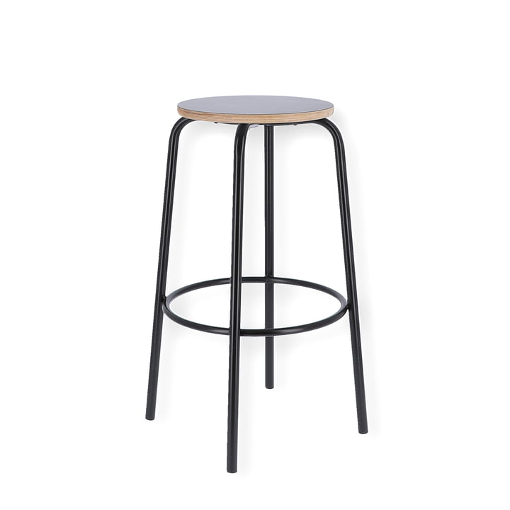 Paris bar stool H 65 cm from Jan Kurtz in black