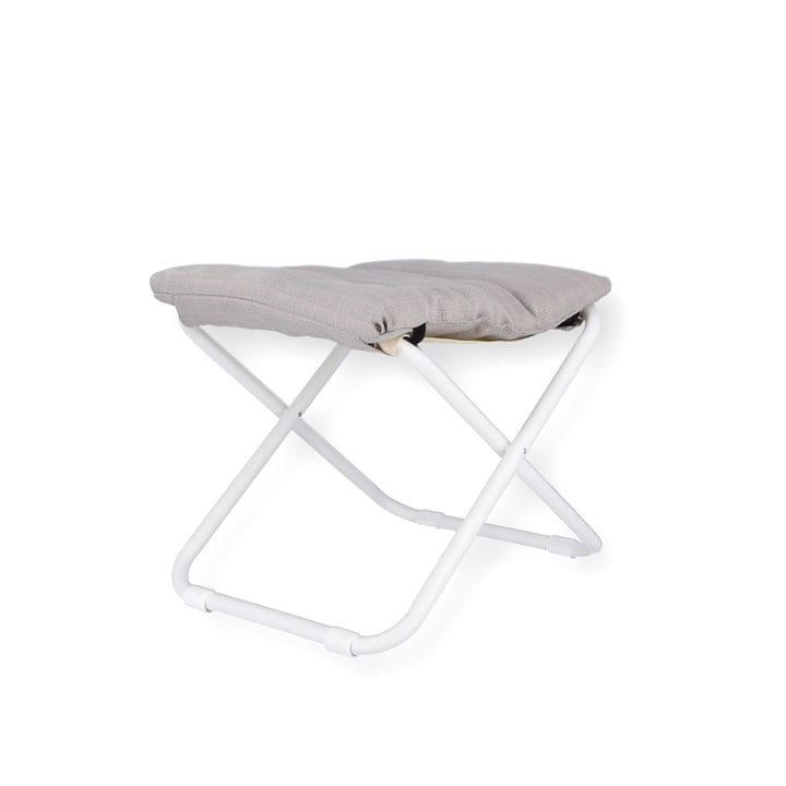 Chico stool soft from Fiam in white / sea linen