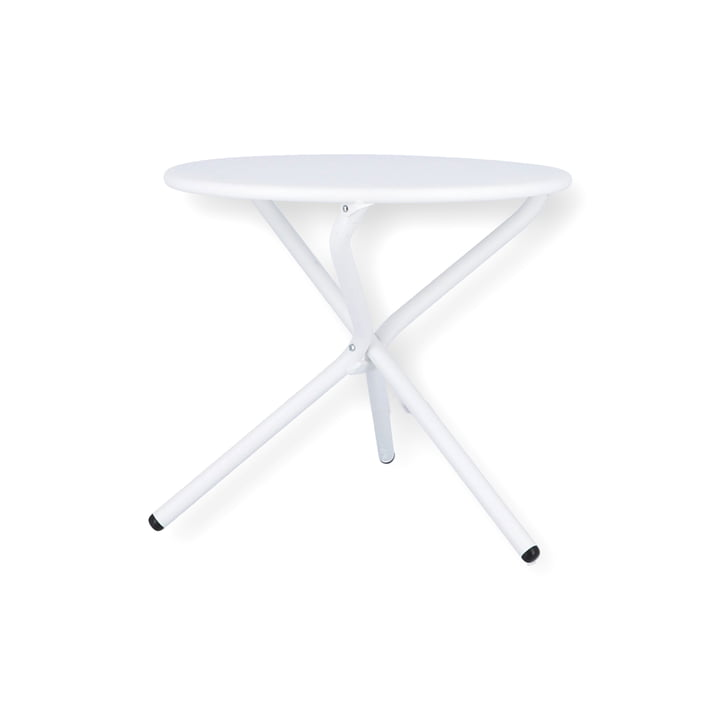 Tris Side table Ø 53 cm from Fiam in white
