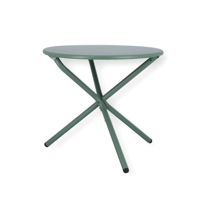 Tris Side table Ø 53 cm from Fiam in sage