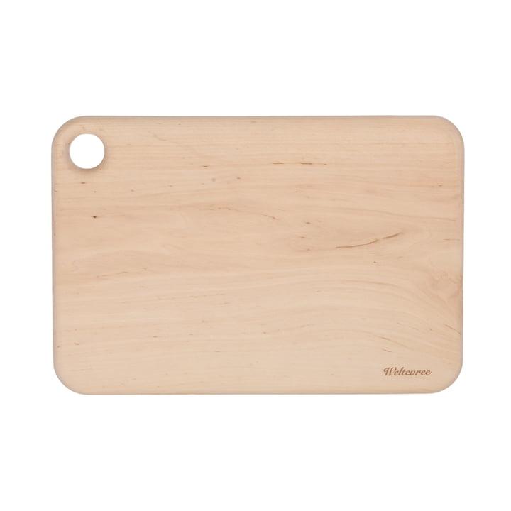 Cutting board measuring 40 x 33 cm made of Weltevree alder wood