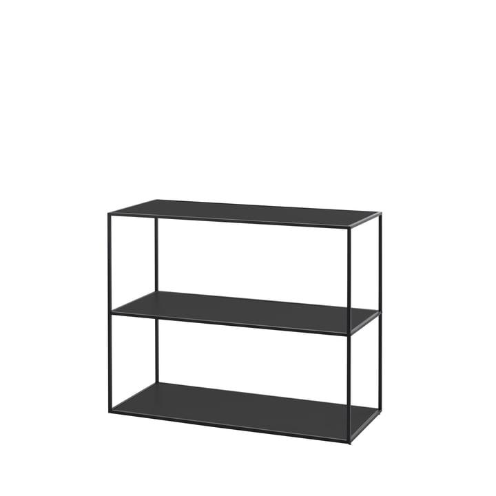 Twin bookshelf small (3 shelves) from by Lassen in black