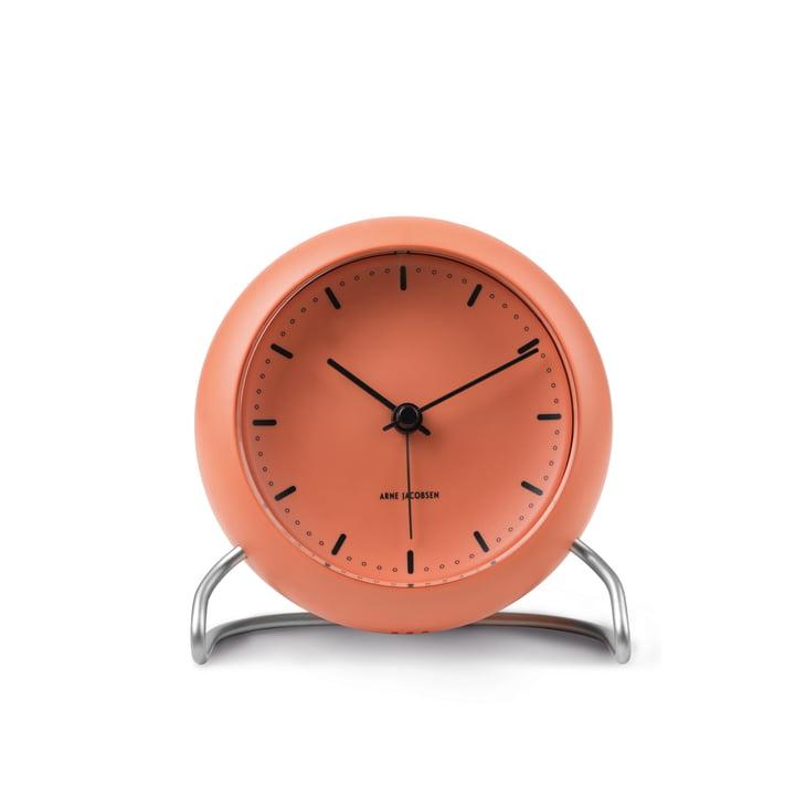 AJ City Hall Alarm clock from Rosendahl in pale orange