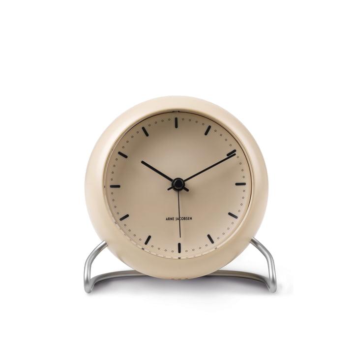 AJ City Hall Alarm clock from Rosendahl in sandy beige