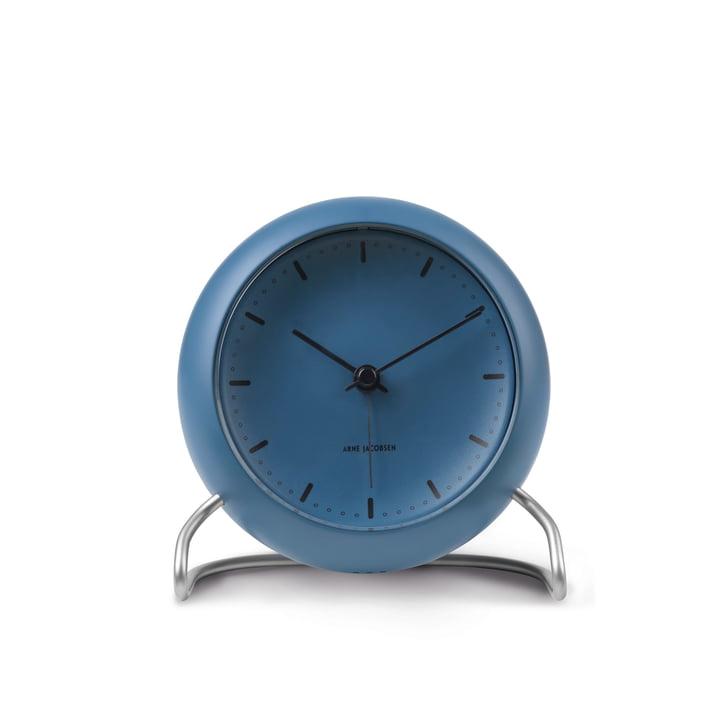 AJ City Hall Alarm clock from Rosendahl in stone blue