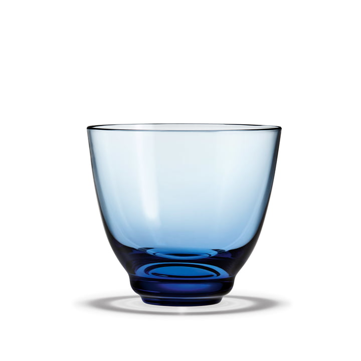 Flow Water glass 35 cl from Holmegaard in blue