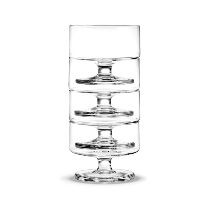 Stub champagne glass 20 cl (set of 4) from Holmegaard in clear