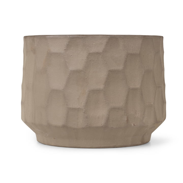 Large cachepot Ø 26,5 cm from Kähler Design in sand