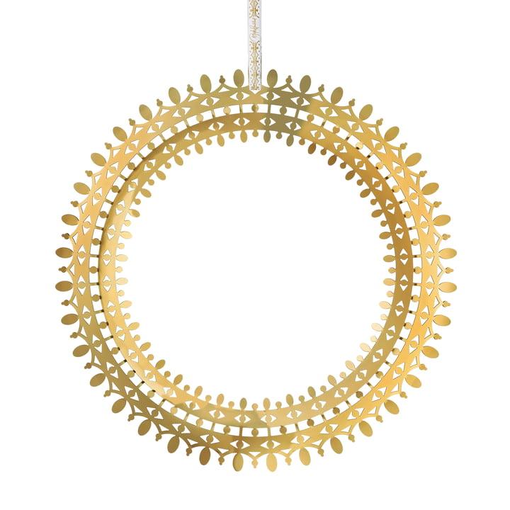 Wiinblad Christmas wreath, Ø 25 cm, gold by Bjørn Wiinblad