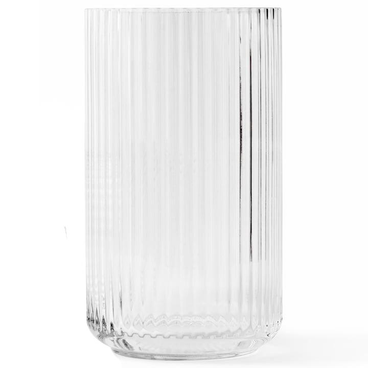 Glass vase H 38 cm from Lyngby Porcelæn in transparent