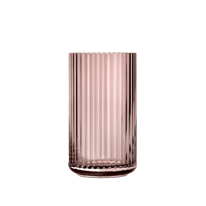 Glass vase H 15,5 cm from Lyngby Porcelæn in burgundy
