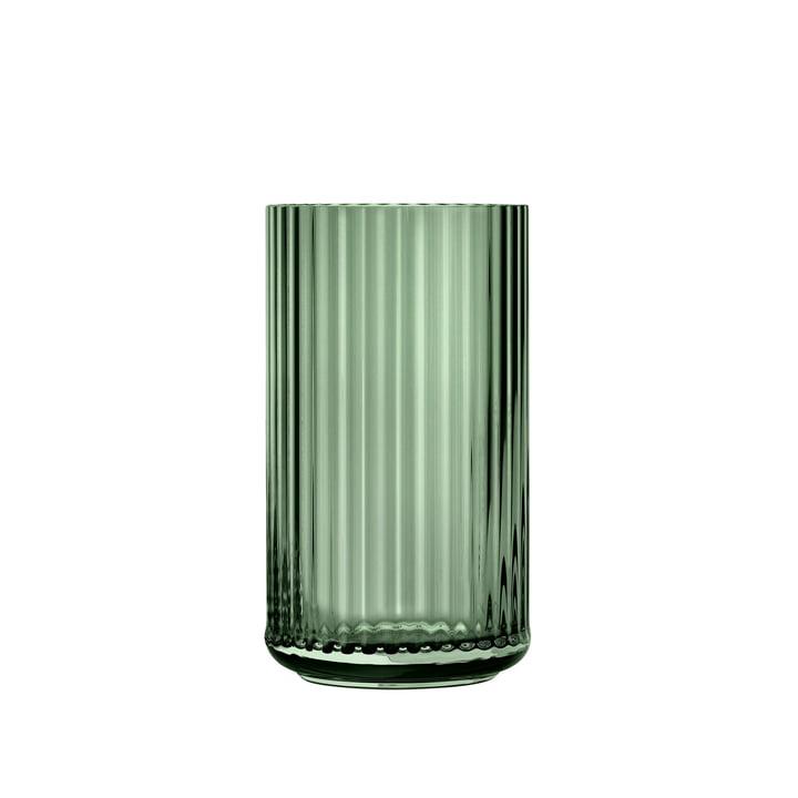 Glass vase H 15,5 cm from Lyngby Porcelæn in green