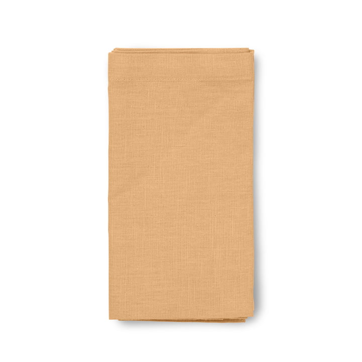 Basic Fabric napkins 45 x 45 cm from Juna in ochre (set of 4)