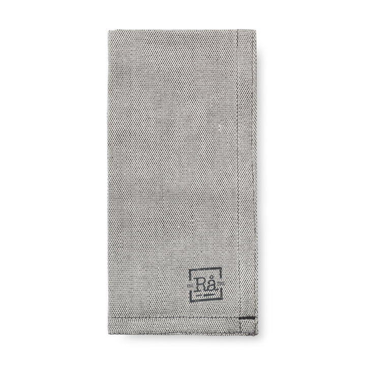 Rå cloth napkins 45 x 45 cm from Juna in dark grey (set of 4)