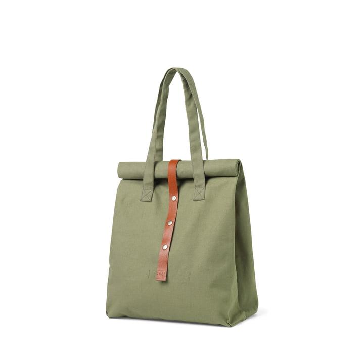 Rå picnic bag H 43 cm from Juna in moss green