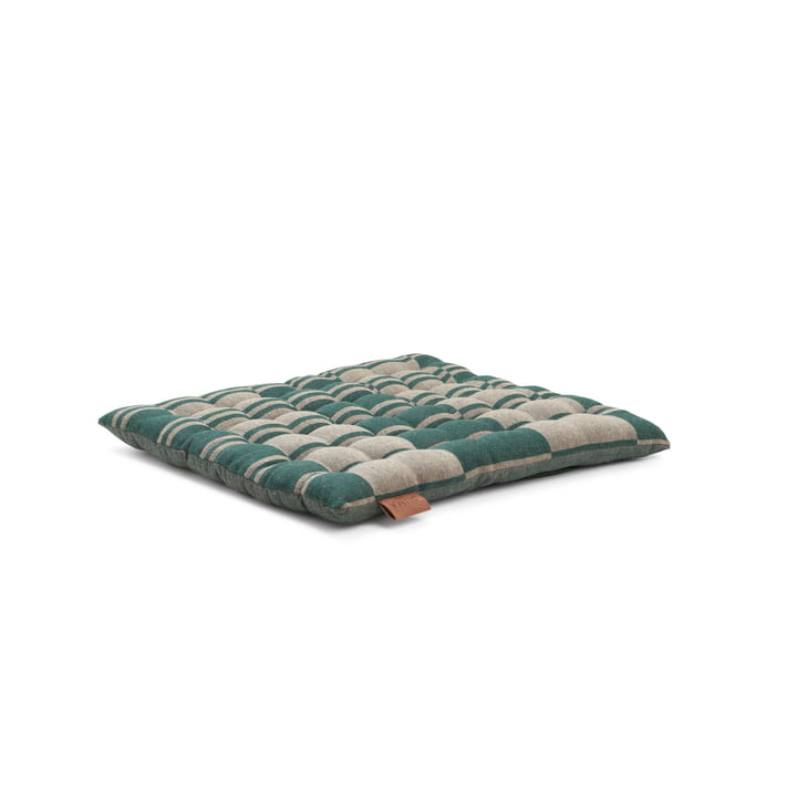 Outdoor Colour seat cushion 40 x 4 x 40 cm from Juna in green / beige