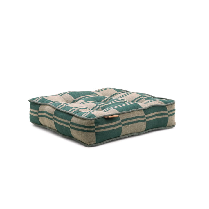 Outdoor Colour seat cushion 40 x 8 x 40 cm from Juna in green / beige