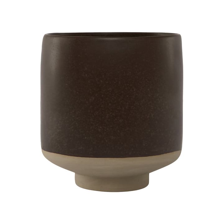 Hagi flowerpot, brown by OYOY