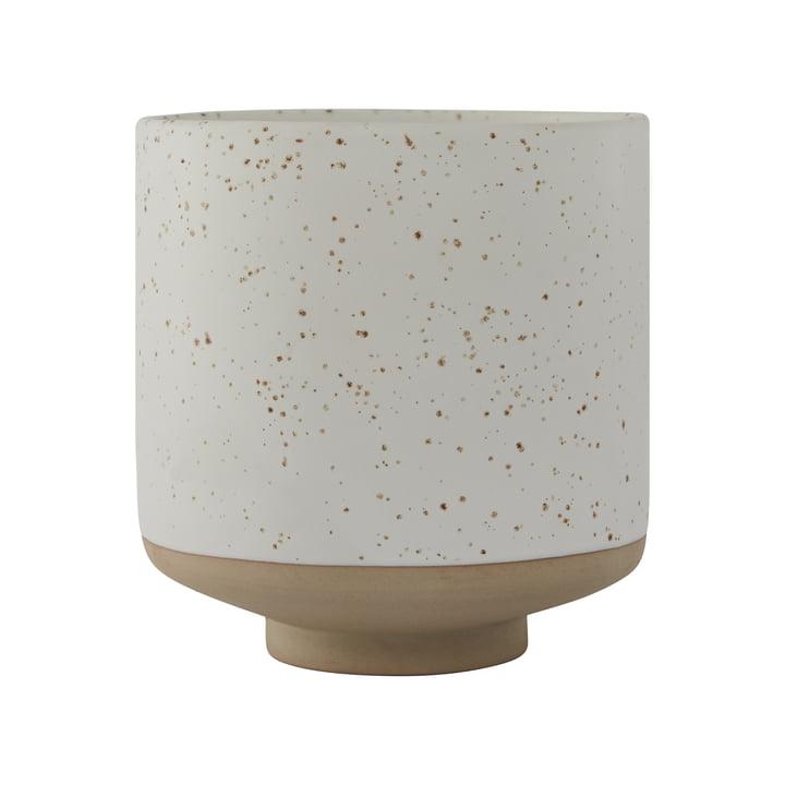 Hagi flowerpot, white / light brown from OYOY