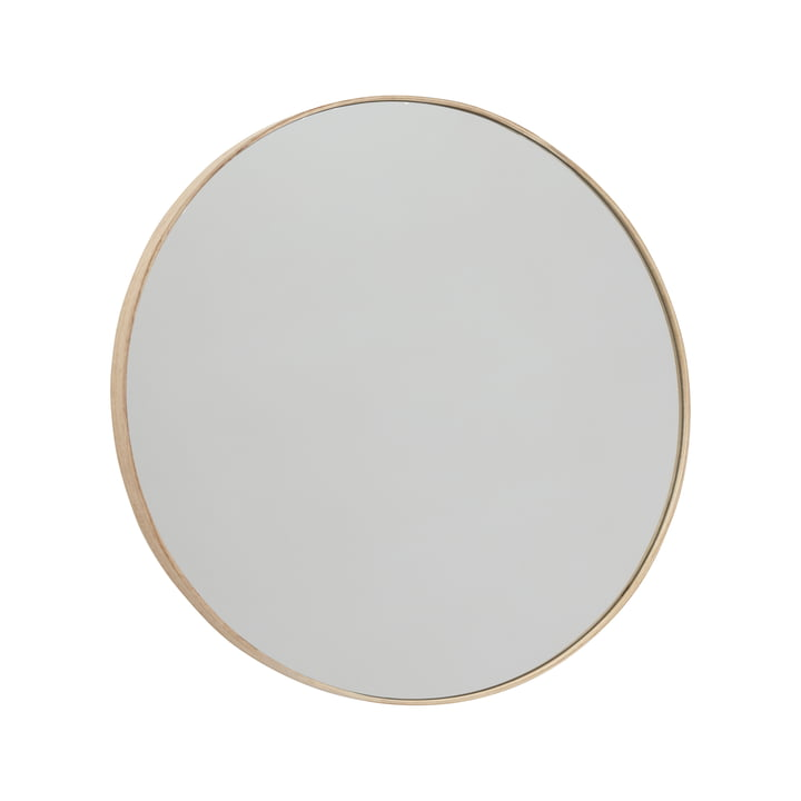 Mun wall mirror Ø 70 cm, ash from OYOY