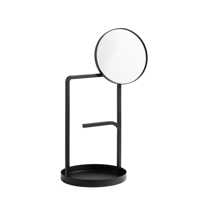 The Muse table mirror from Woud in black