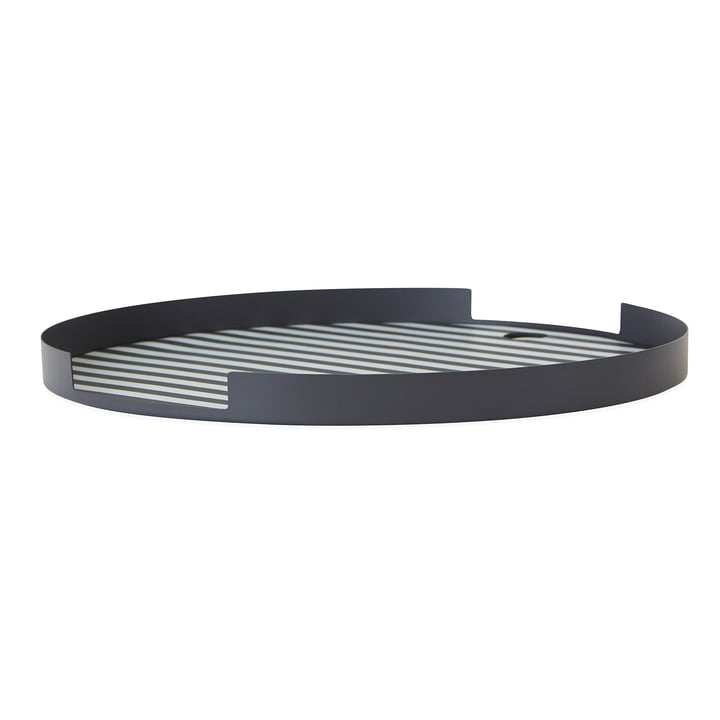 Oka tray Ø 32.5 cm, anthracite from OYOY