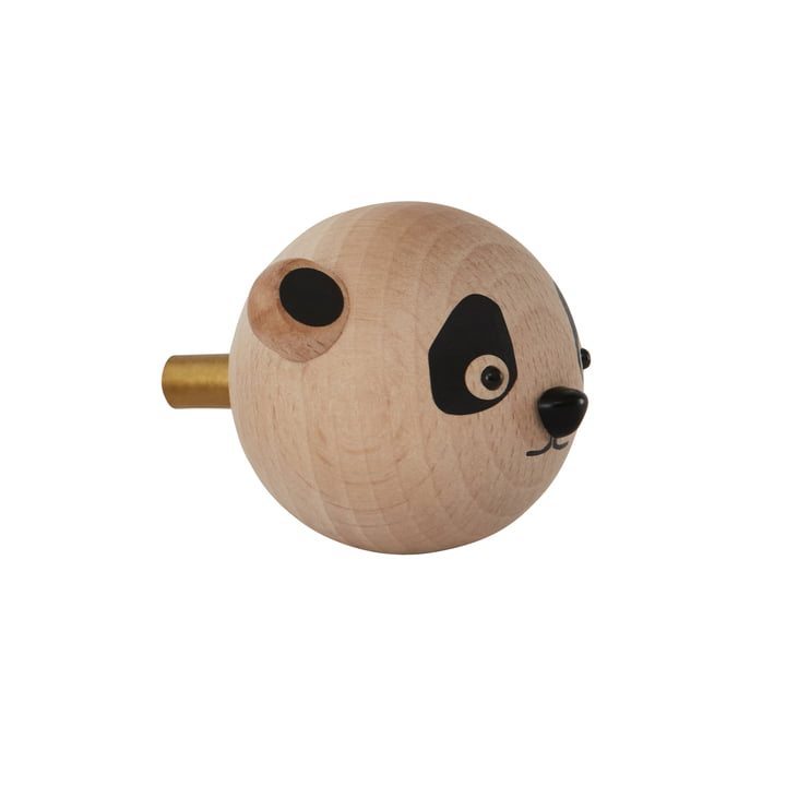 Mini Hook children wall hook Panda, natural from OYOY