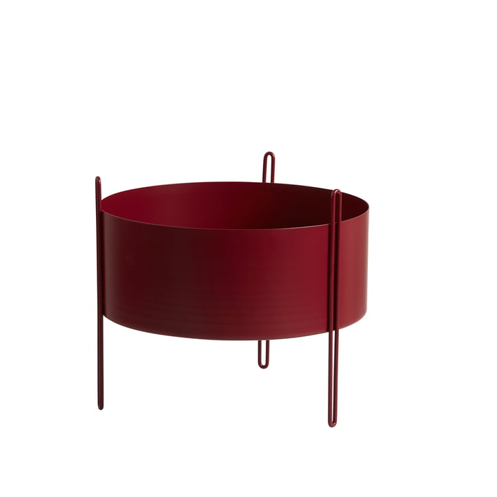 Pidestall Plant container M from Woud in red
