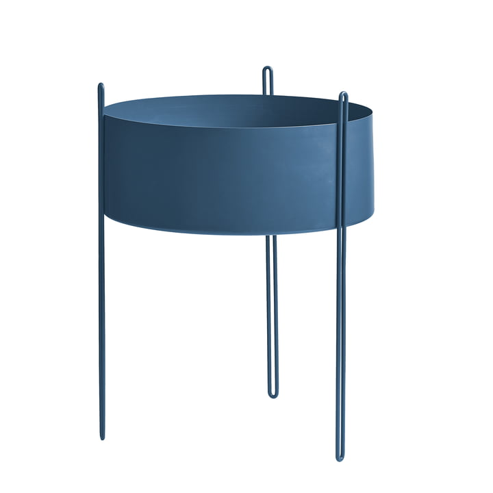 Pidestall Plant container L from Woud in blue