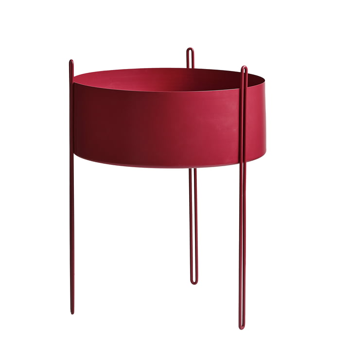 Pidestall Plant container L from Woud in red