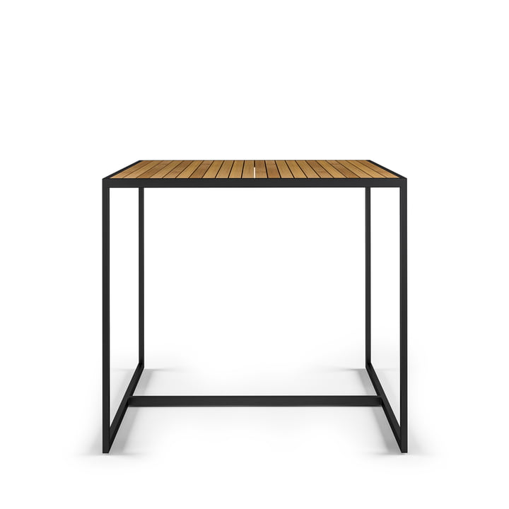 Open Bistro Table 100 x 100 cm, stainless steel / teak from Röshults