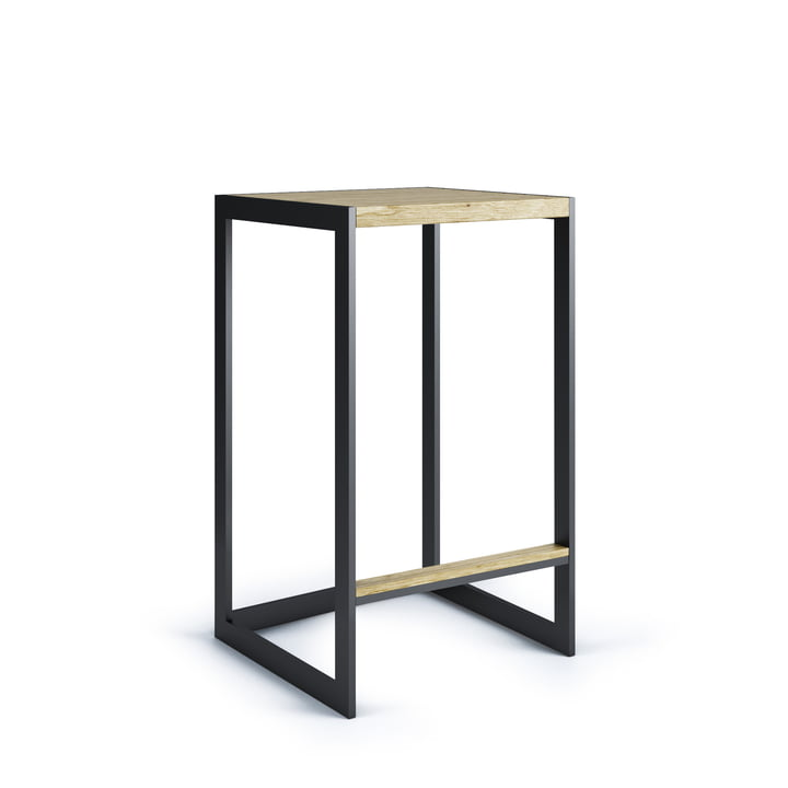 Garden Bar stool H 60 cm, stainless steel / teak from Röshults