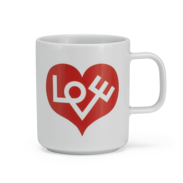 Coffee Mug Love Heart from Vitra in red