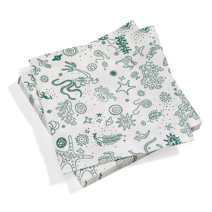 Paper Napkins large Sea Things from Vitra in turquoise