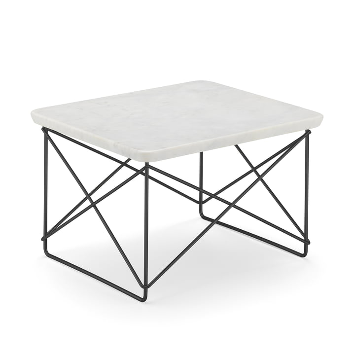 Eames Occasional Table LTR from Vitra in marble light / basic dark