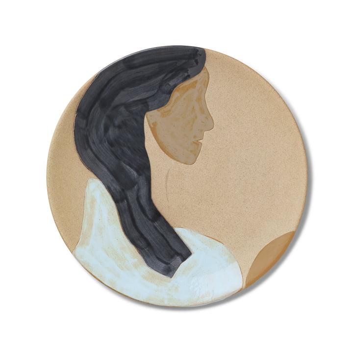 Ceramic plate, Hessa by ferm Living