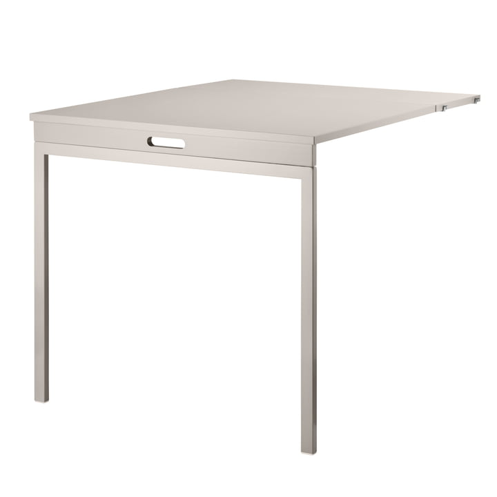 Folding table from String in beige