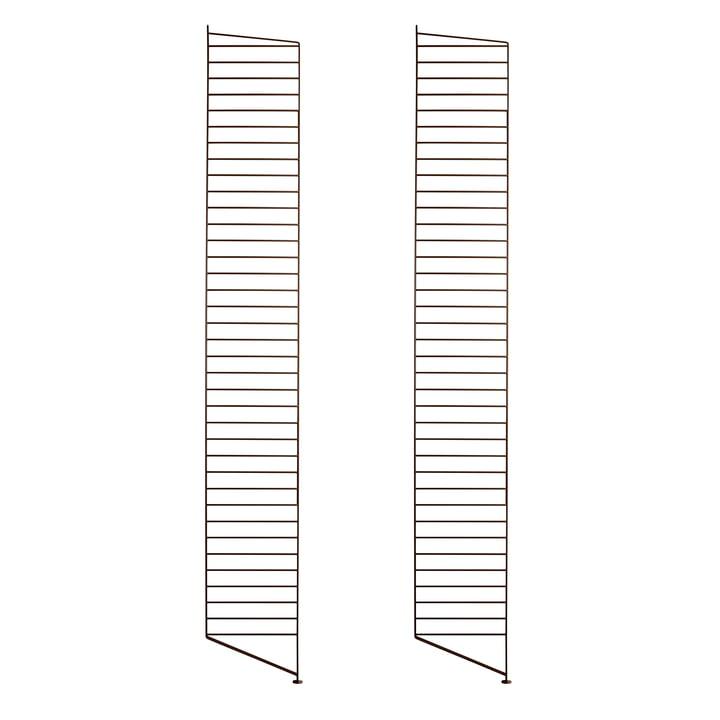 Floor ladder for String shelf 200 x 30 cm (set of 2) from String in brown