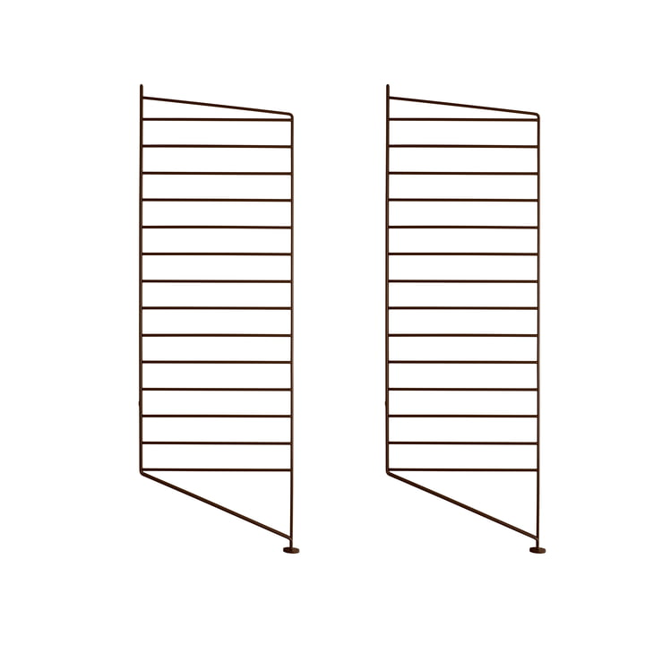 Floor ladder for String shelf 85 x 30 cm (set of 2) from String in brown