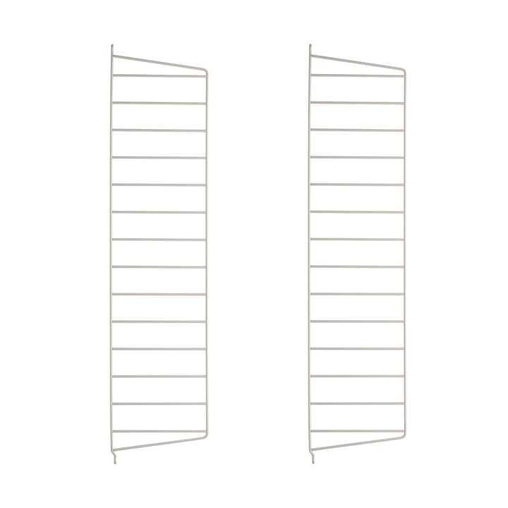 String - Wall ladder for String shelf 75 x 20 cm (set of 2), beige
