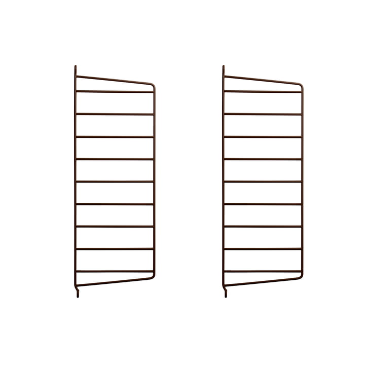 Wall ladder for String shelf 50 x 20 cm (set of 2) from String in brown