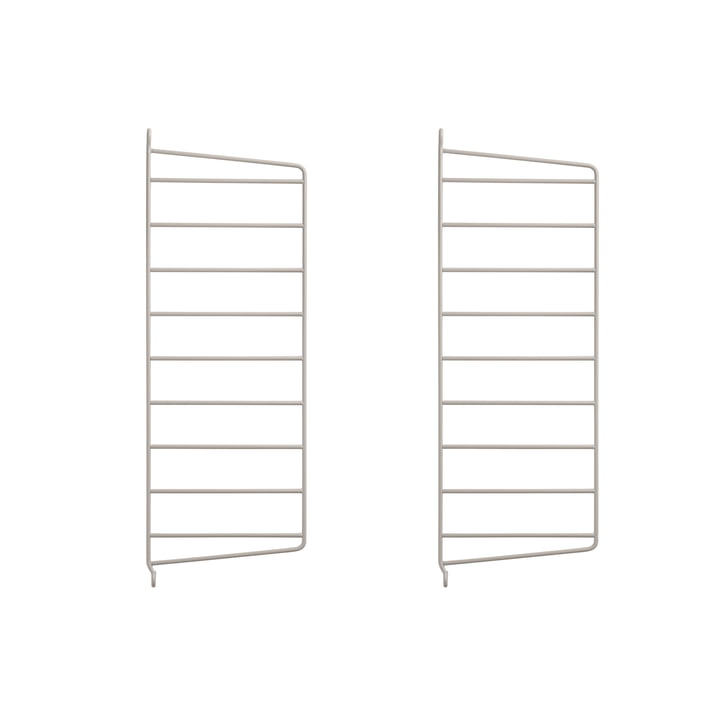 Wall ladder for String shelf 50 x 20 cm (set of 2) from String in beige