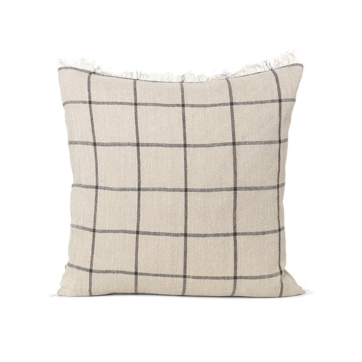 Calm cushion 48 x 48 cm by ferm Living in camel / black