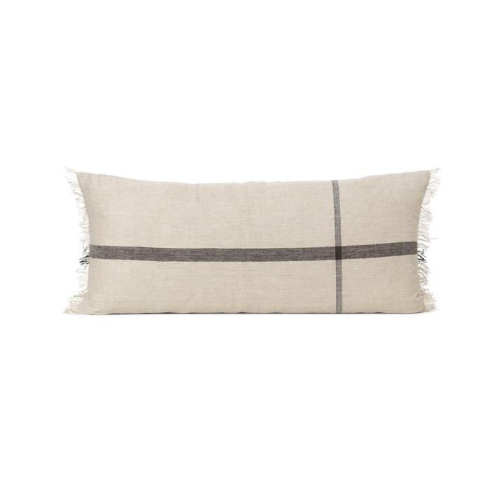 Calm cushion 38 x 88 cm by ferm Living in camel / black