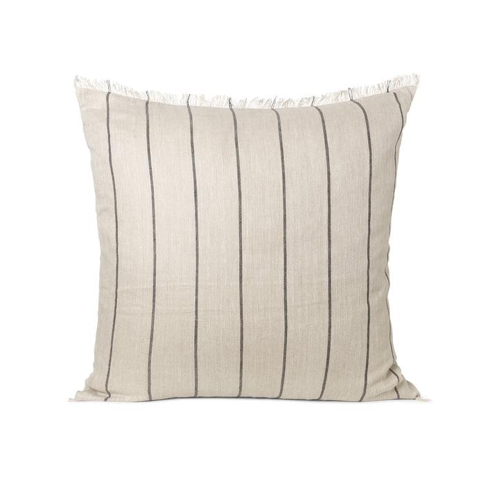 Calm cushion 78 x 78 cm by ferm Living in camel / black