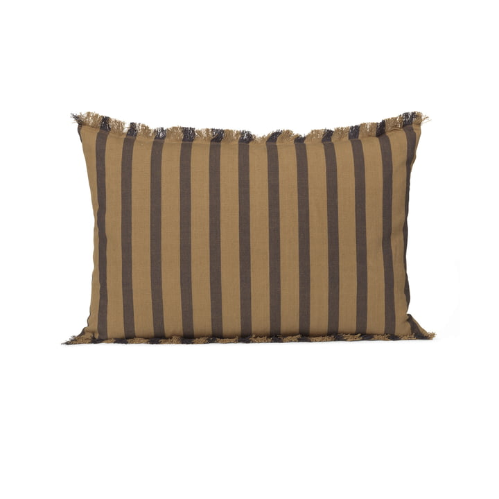 True 60 x 40 cm cushion by ferm Living in kelp / black